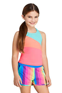 Girls Plus Colorblock Tankini Top, Front