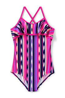 Girls Plus Ruffle One Piece Swimsuit, Front