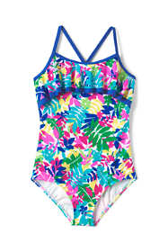 Girls Ruffle One Piece Swimsuit