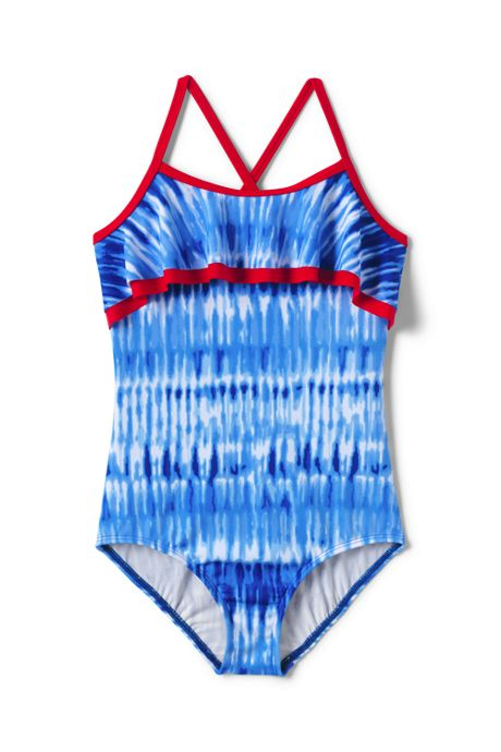 Girls Plus Ruffle One Piece Swimsuit