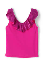 Girls Slim Ruffle Tankini Top