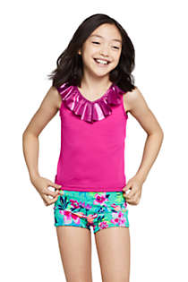 Girls Ruffle Tankini Top, Front