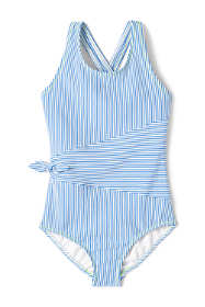 Toddler Girls Seersucker One Piece Swimsuit