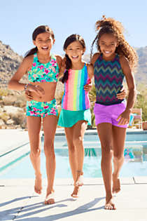 Girls Sport Tankini Top, alternative image