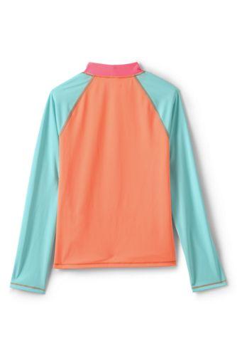Big Girls Colorblock UPF 50 Sun Protection Rash Guard