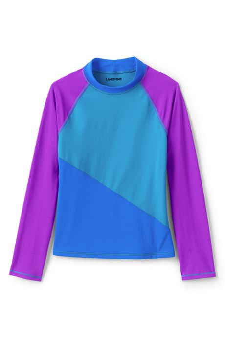 Big Girls Colorblock UPF 50 Sun Protection Rash Guard