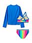 Girls' Sporty Three-Piece Swim Set