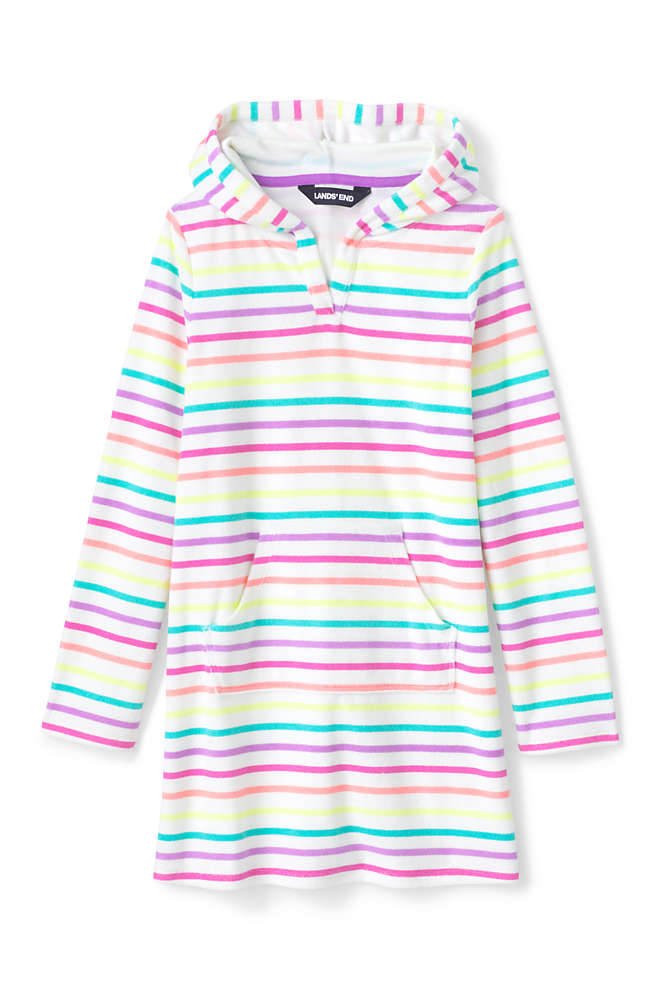 Toddler Girls Terry Pullover Cover-up, Front