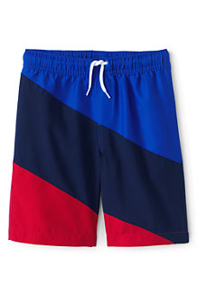 Boys' Swim Shorts, Diagonal Colourblock