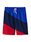 Boys' Swim Shorts, Diagonal Colourblock