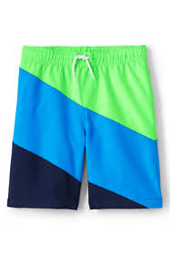 Boys Husky Diagonal Swim Trunks