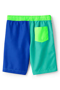 Little Boys Colorblock Swim Trunks, Back