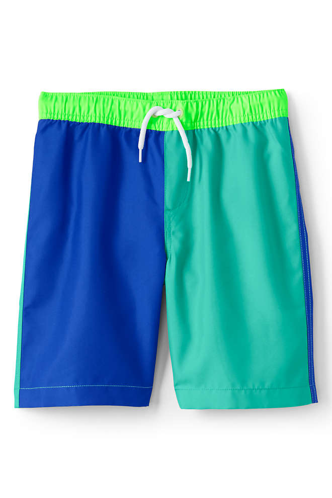 Little Boys Colorblock Swim Trunks, Front