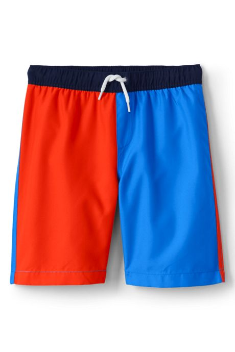 Boys Slim Colorblock Swim Trunks
