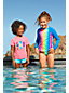Badeshirt und Bikiniset Gemustert 3-teilig für große Mädchen
