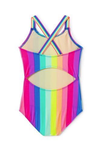 Girls Slim Sport One Piece Swimsuit