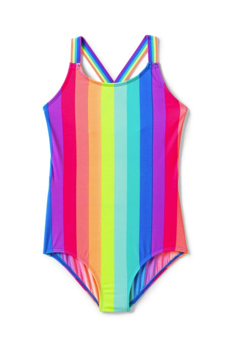 Girls Slim Sport One Piece Swimsuit