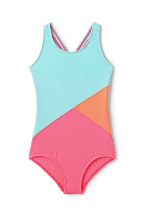 Girls Plus Colorblock One Piece Suit