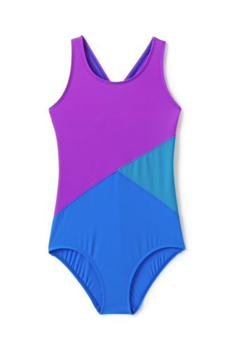Little Girls' Multi Colourblock One Piece Swimsuit