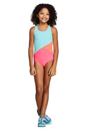 Girls Colorblock One Piece Suit