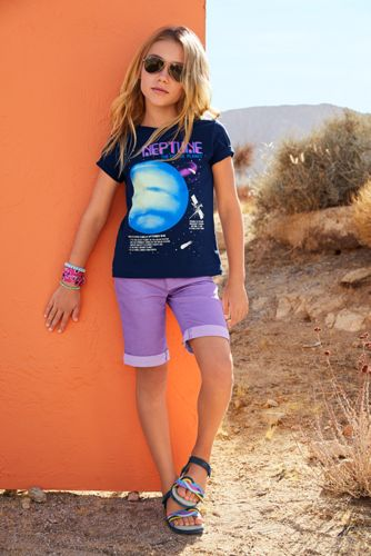 Little Girls Denim Bermuda Jean Shorts