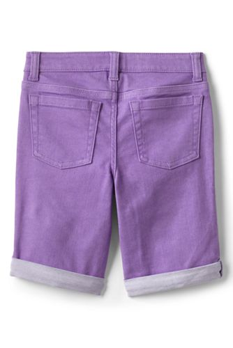 Little Girls Denim Bermuda Shorts