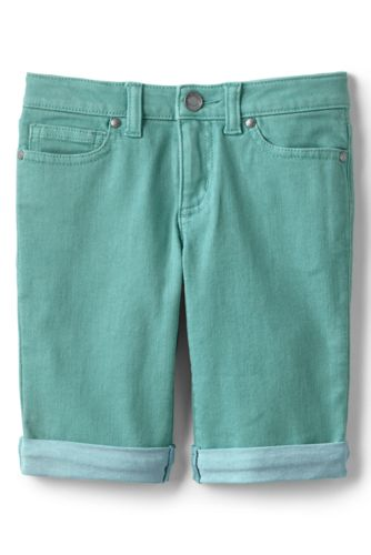 Girls' Garment-dyed Denim Bermuda Shorts