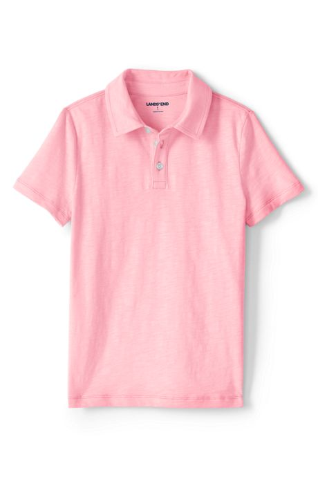 Little Boys Solid Slub Polo Shirt