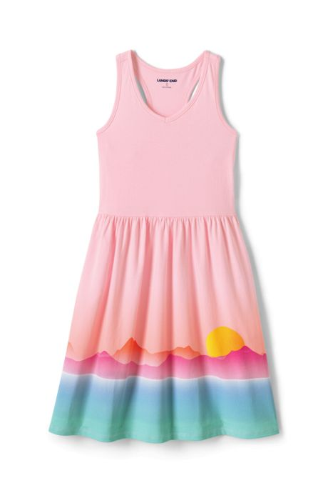 Girls Plus Graphic Knot Front Tank Dress