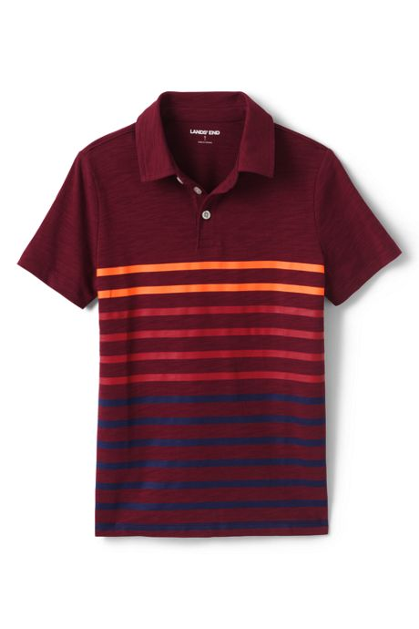 Boys Husky Stripe Slub Polo Shirt