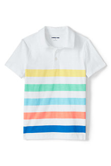 Boys' Jersey Polo Shirt, Stripe