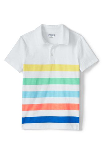 Little Boys' Jersey Polo Shirt, Stripe