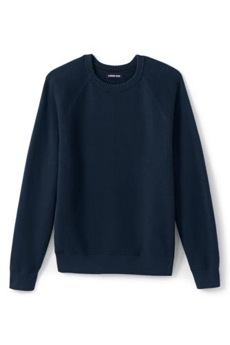 Men's Textured Cotton Jumper