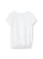 T-Shirt Graphique Ourlet Elastiqué à Manches Courtes, Fille