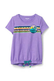 Little Girls Graphic Cinched Waist Top