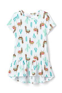 Girls' Patterned Peplum Cotton Tunic Top