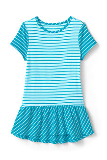 Girls' Patterned Peplum Cotton Tunic Top