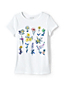 Toddler Girls' Short Sleeve Graphic Novelty Tee