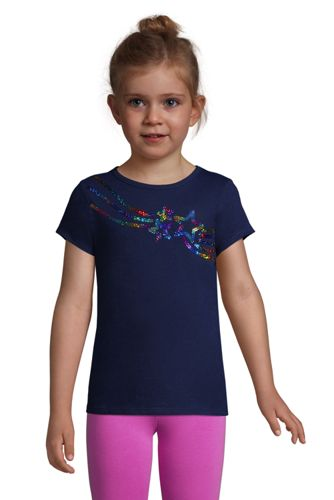 Girls Graphic Embellished T Shirt