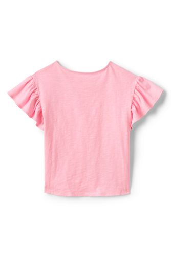 Girls Novelty Ruffle Sleeve Top