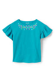 Little Girls Novelty Ruffle Sleeve Top