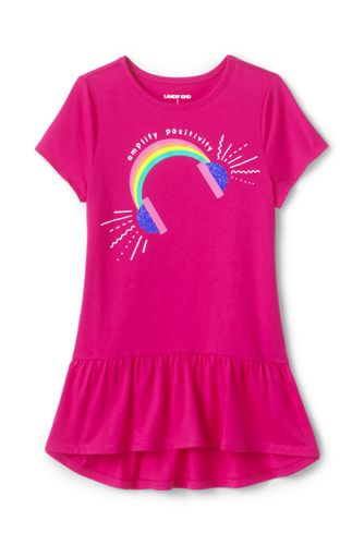 Girls' Graphic Peplum Cotton Tunic Top