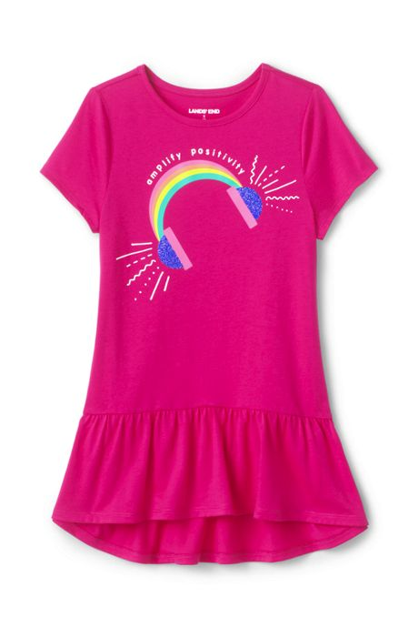 Girls Plus Graphic Tunic Top