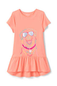 Little Girls Graphic Tunic Top