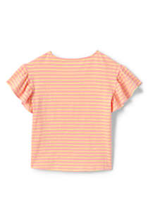 Little Girls Ruffle Sleeve Top, Back