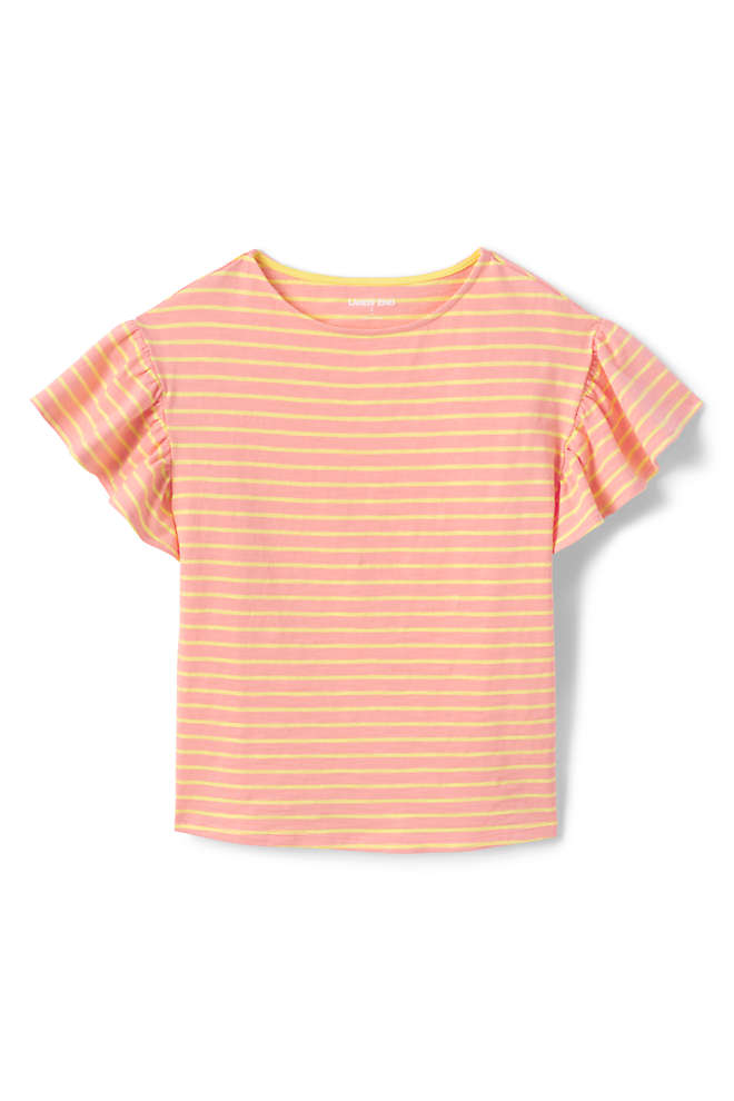 Little Girls Ruffle Sleeve Top, Front