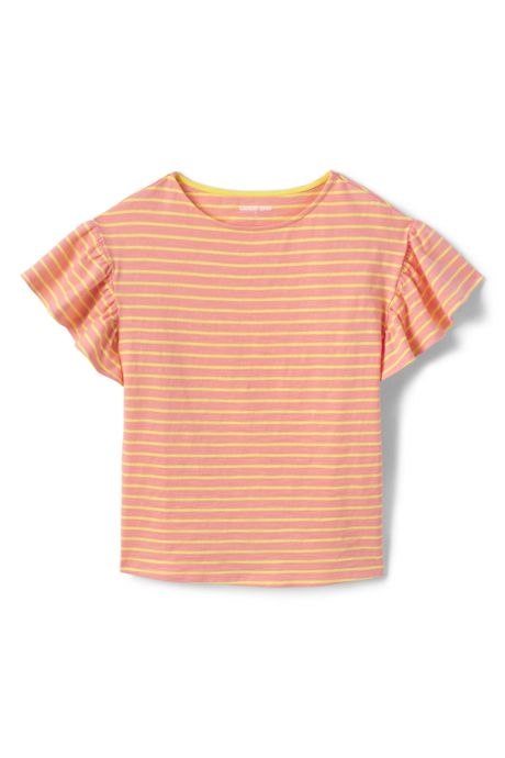 Little Girls Ruffle Sleeve Top