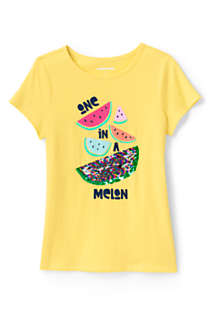 Little Girls Flip Sequin Graphic T Shirt, alternative image