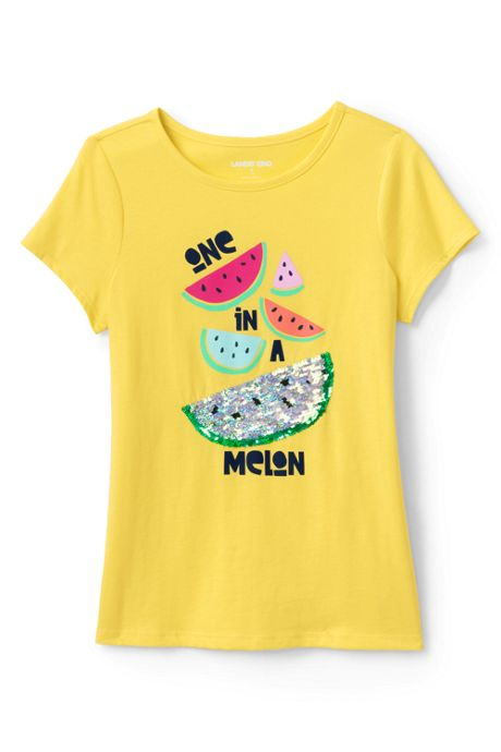 Girls Plus Size Flip Sequin Graphic T Shirt