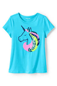 Little Girls Flip Sequin Graphic T Shirt